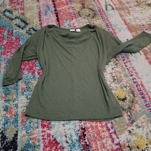 Huntergreen boatneck flowy shirt